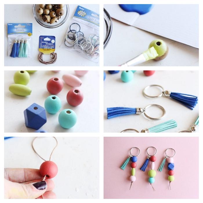 Tutorial per fare orecchini, accessori con palline di legno, pensierini di Natale