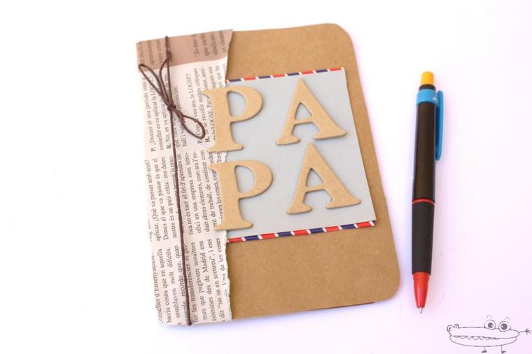 taccuino con copertina rigida e scritta penna regalo al papà
