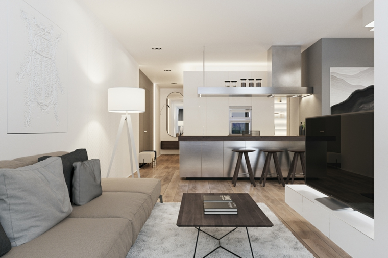 1001 idee per cucina soggiorno open space idee di for Piccola cucina open space soggiorno