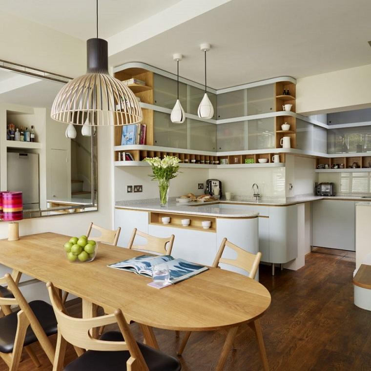 1001 idee per cucina soggiorno open space idee di for Arredare ambiente unico cucina soggiorno