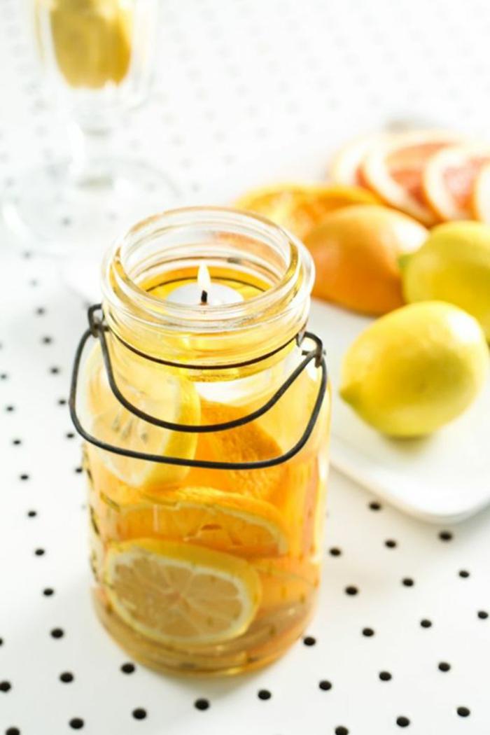 Come fare candele profumate, barattolo di vetro come portacandele