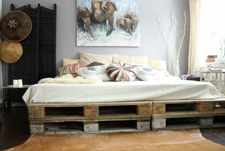 idea per realizzare un arredamento pallet fai da te per la camera da letto