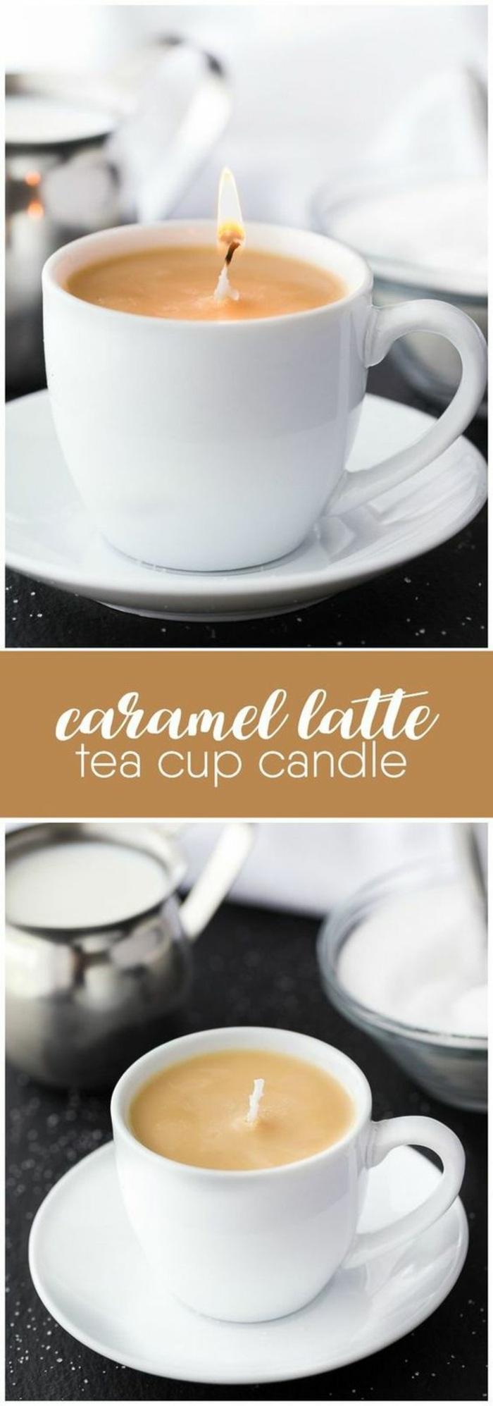 Candele profumate fai da te, utilizzare le tazzine del caffè per portacandele