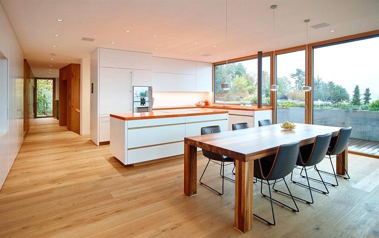 Pavimento cucina open space: cucina open space ecco come fondere due