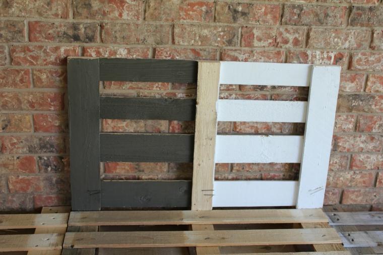 passaggio relativo alla colorazione del legno dei divani con bancali fai da te