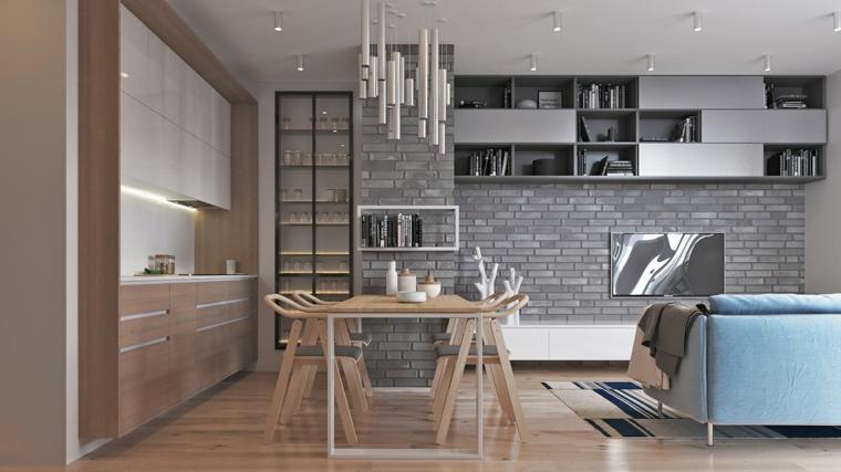 1001 idee per cucina soggiorno open space idee di - Arredamento cucina piccola ...
