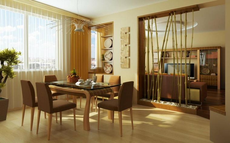 come arredare salotto e sala da pranzo insieme ispirandosi ad uno stile orientale