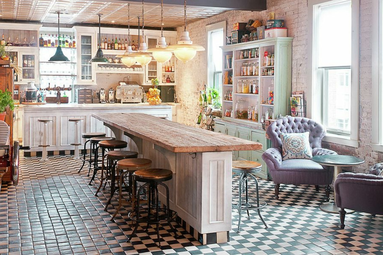 1001 idee per cucine shabby chic trendy e low cost. Black Bedroom Furniture Sets. Home Design Ideas