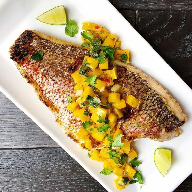 Filetto di tilapia preparato al forno con mango e lime, ricette facili e veloci