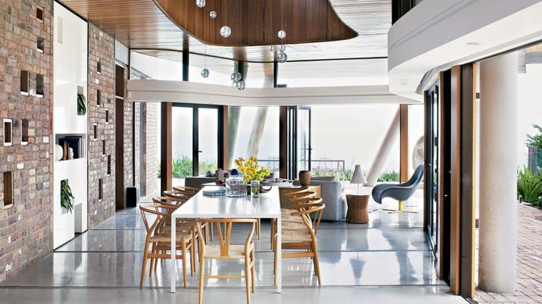 1001 idee per arredare salotto e sala da pranzo insieme for Foto di sale da pranzo moderne