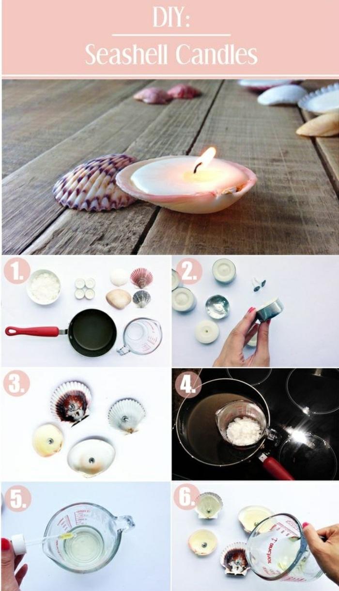 Come sciogliere la cera, candele in conchiglie con procedimento per la realizzazione