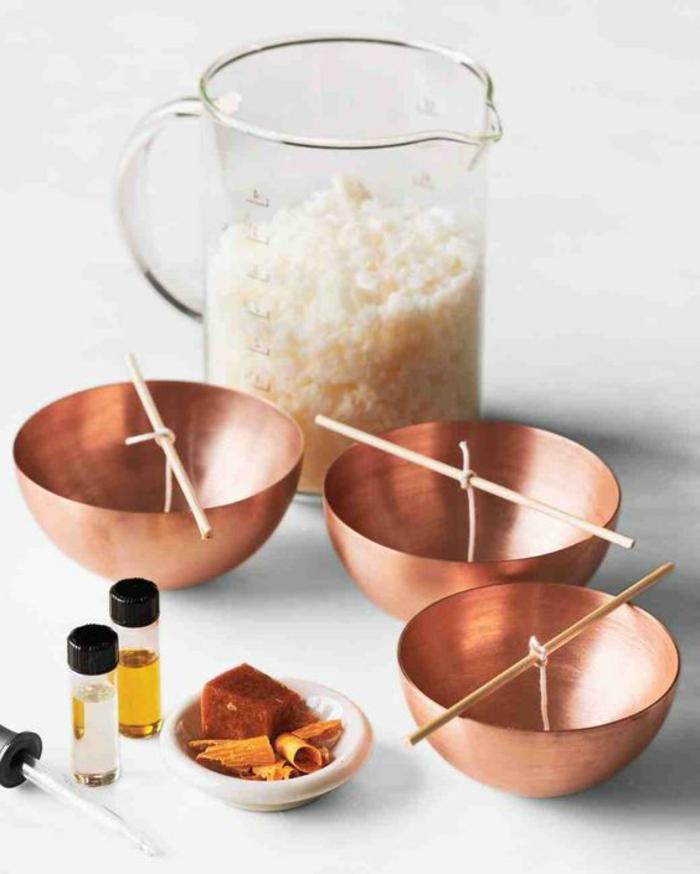 Come fare stoppino per candele, ciotole di rame per candele profumate con oli essenziali