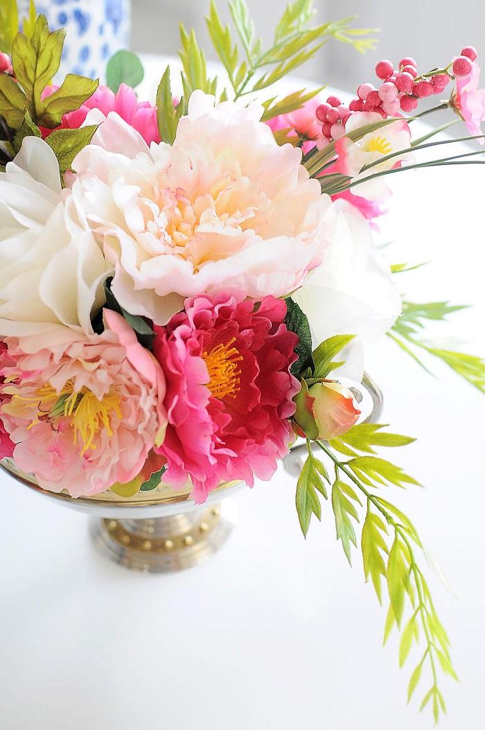 Addobbi tavoli matrimonio, centrotavola floreale, vaso con fiori