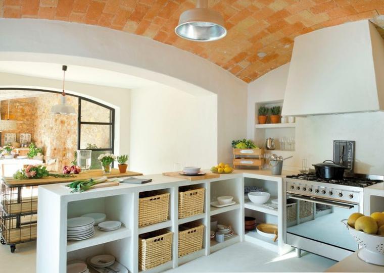 1001 idee per cucine in muratura funzionali e accoglienti - Costruire cappa cucina ...