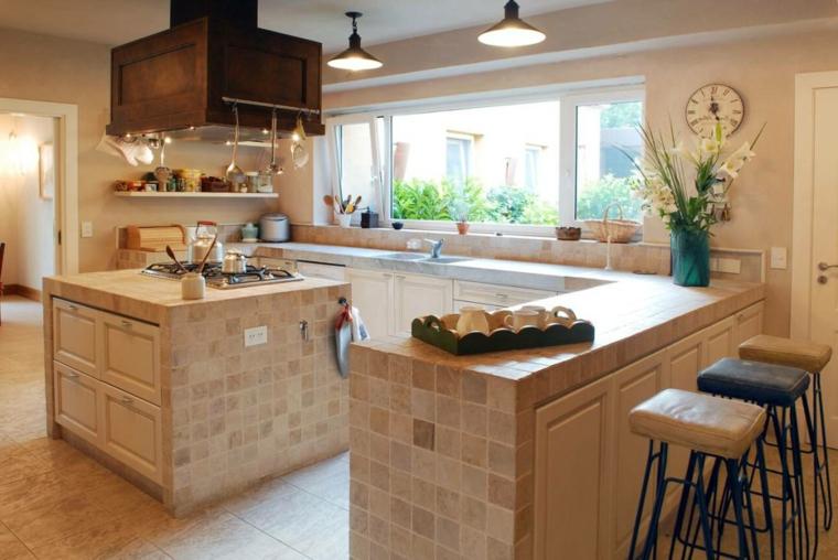 Foto di cucine in muratura con isola affordable idee di for Costruire isola cucina