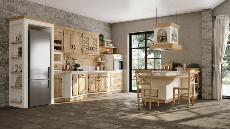 1001 idee per cucine in muratura funzionali e accoglienti - Cucine in muratura con penisola ...