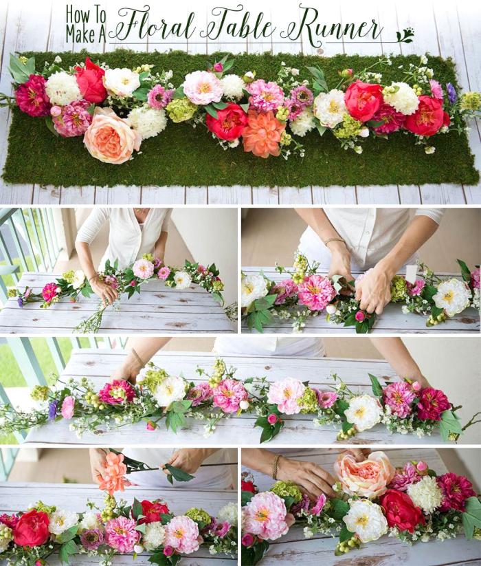 Ghirlanda di fiori, centrotavola con fiori, tutorial con fiori