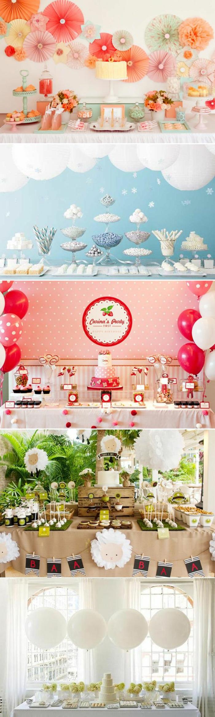 Decorazioni buffet con palloncini, palloncini gonfiati colorati