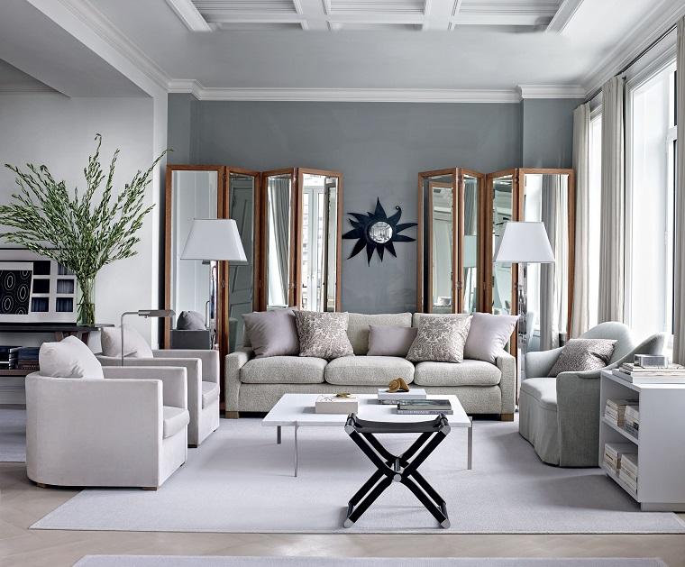 colori pareti soggiorno tortora set di divani con tavolini pavimento in laminato chiaro con tappeto