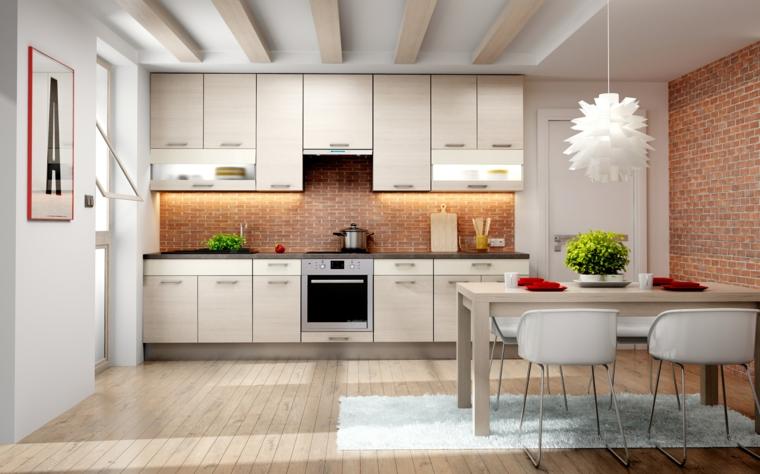 Sala E Cucina Unico Ambiente. Top Cucina Con Muretto Divisorio With ...