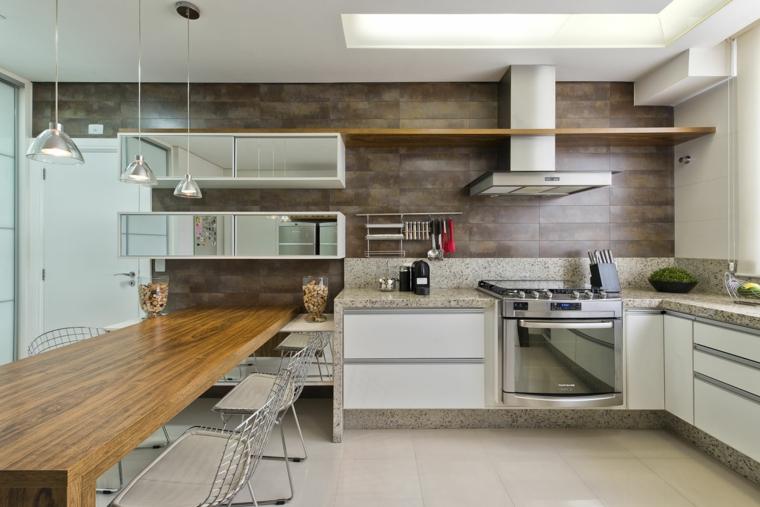 1001 idee per cucine in muratura funzionali e accoglienti - Cucine in muratura stile moderno ...