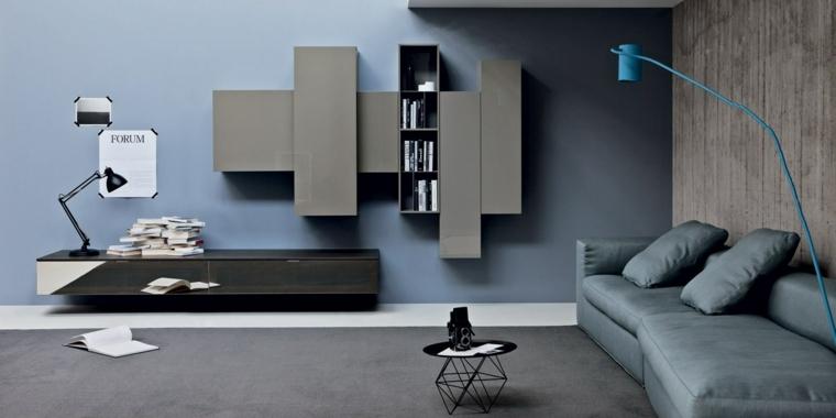 1001 idee per color tortora alle pareti all 39 arredamento for Divano blu colore pareti