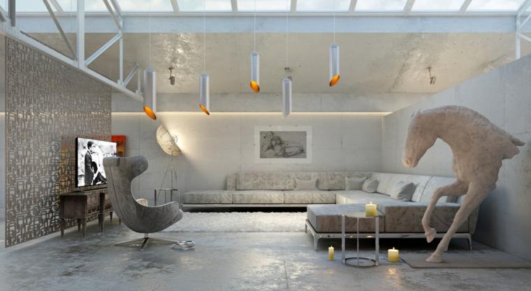 Come arredare un soggiorno con divano angolare e varie decorazioni di design