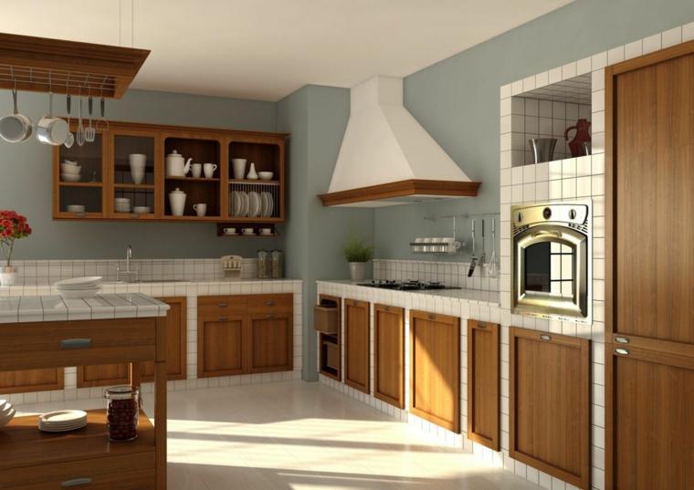 1001 idee per cucine in muratura funzionali e accoglienti for Pensili cucina in muratura