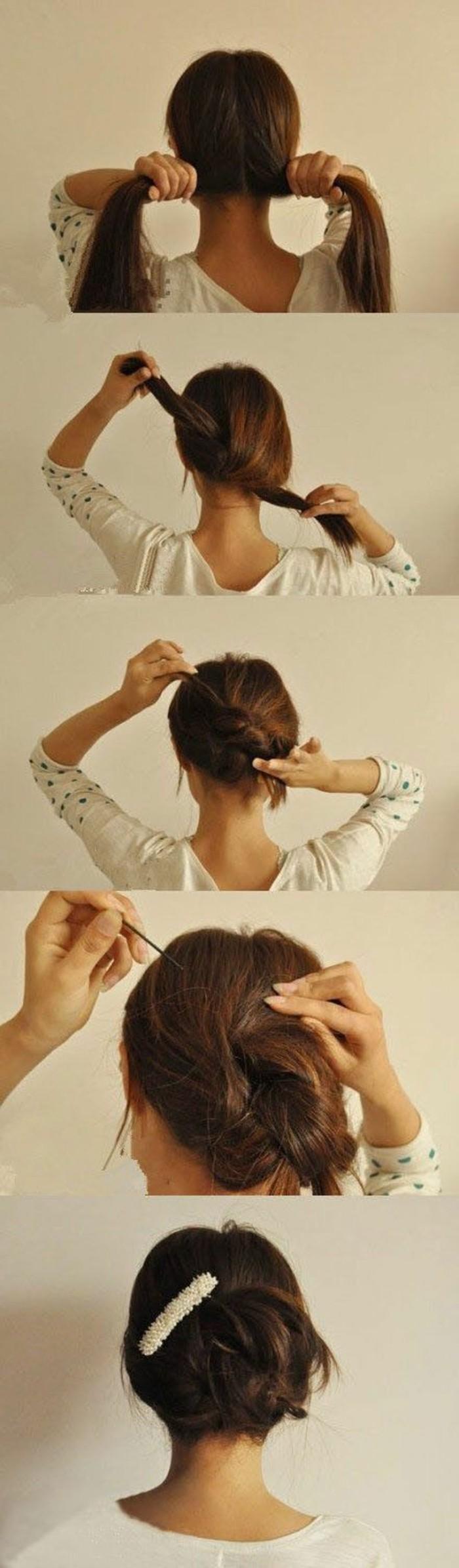 tutorial per realizzare delle acconciature capelli lunghi facili in poche mosse e con un fermaglio