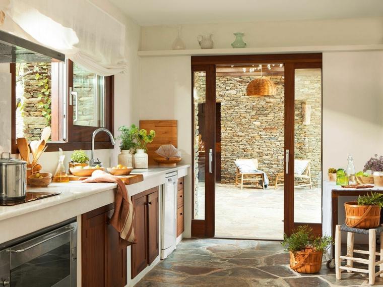 1001 idee per cucine in muratura funzionali e accoglienti - Cucina rustica in pietra ...