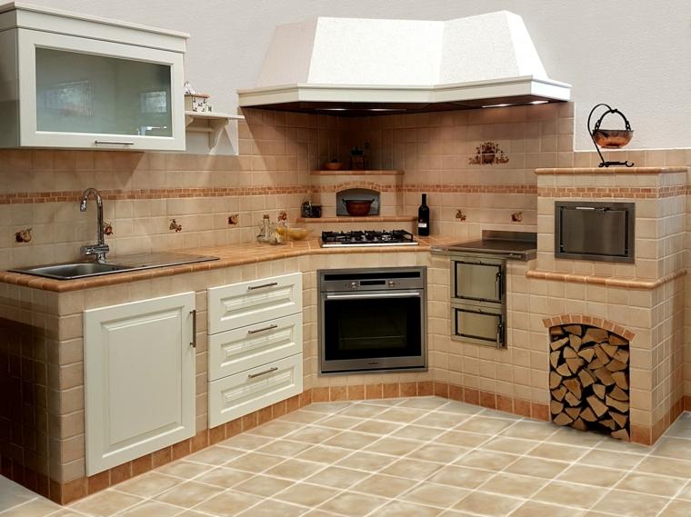 1001 idee per cucine in muratura funzionali e accoglienti - Cappa cucina in muratura ...