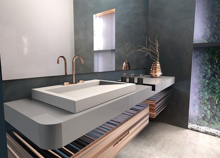 Come arredare un bagno con mobile dal design moderno e lavandino da appoggio