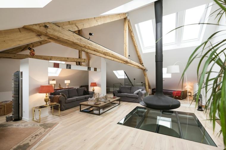 1001 idee per come arredare una mansarda sfruttandone le for Arredare soggiorno rettangolare