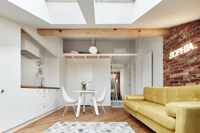 come arredare ambiente unico cucina e soggiorno in stile scandinavo un ambiente piccolo