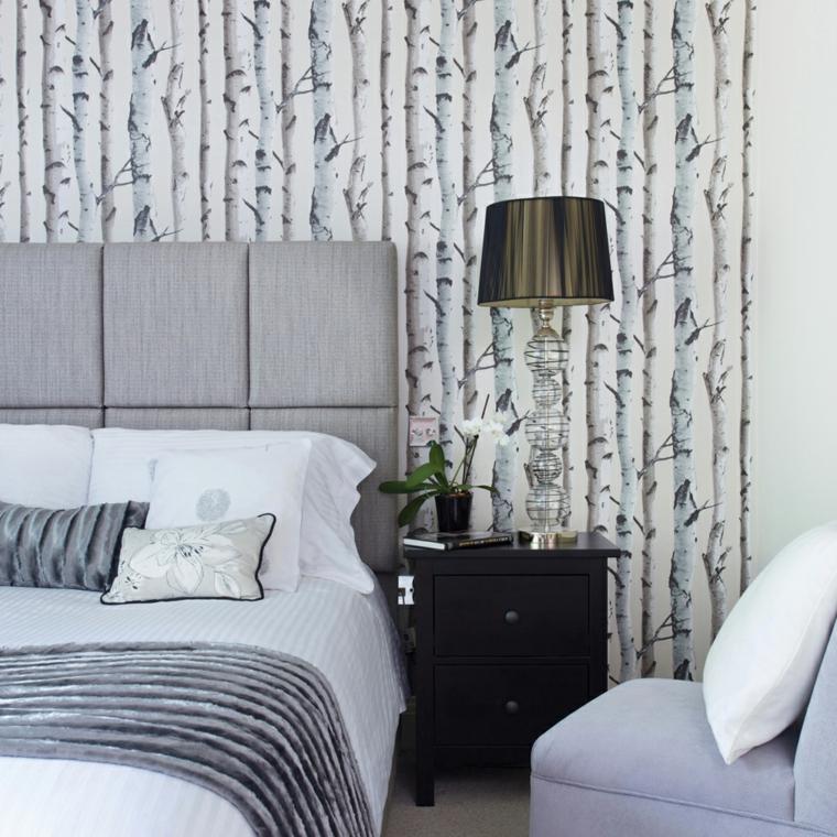 tortora beige pareti tortora e crema camera da letto con testata in tessuto
