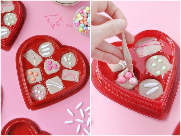 Come si fa lo slime a forma di cioccolatini in una scatola a tema di San Valentino