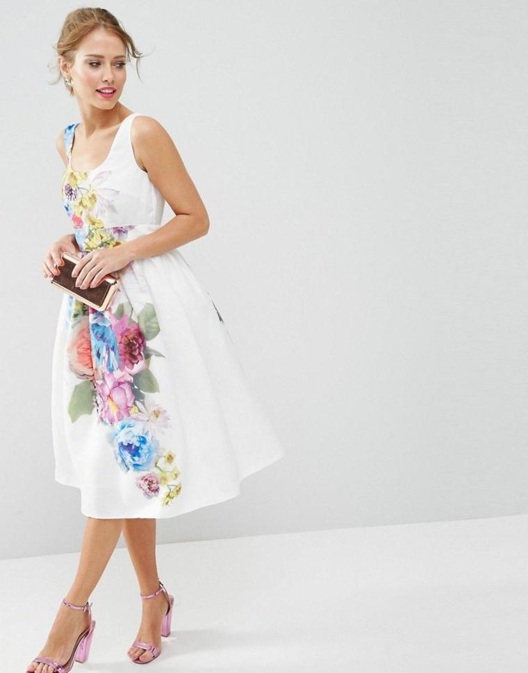Come vestirsi matrimonio mattina con un vestito bianco con parte inferiore a ruota