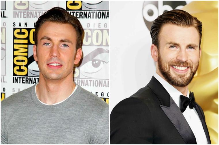 Come stimolare la crescita della barba come quella dell'attore Chris Evans