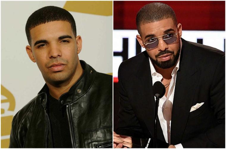 Come tagliare la barba per assomigliare a Drake, barba cortissima con pizzetto