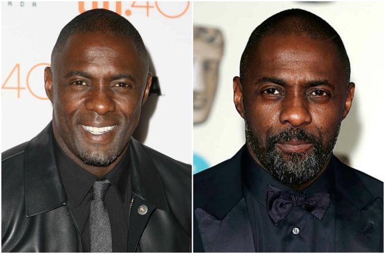 Come regolare la barba e una proposta prima e dopo dell'attore Idris Elba