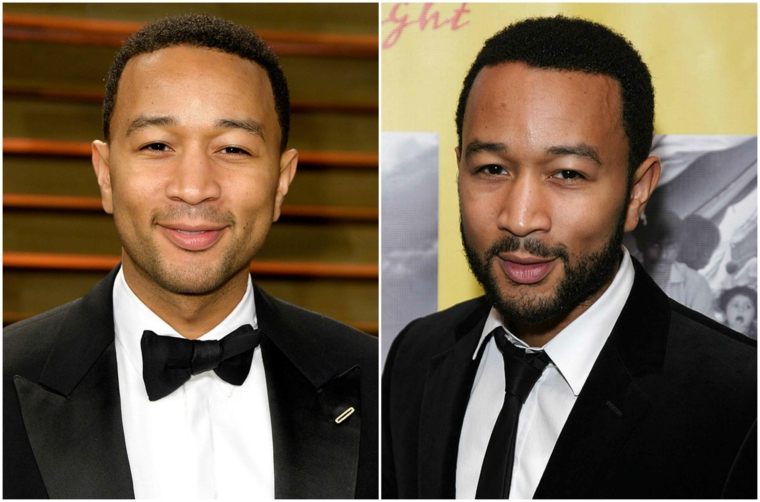 Come far crescere la barba, una proposta prima e dopo di John Legend