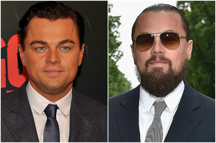 Come stimolare la crescita della barba e una proposta prima e dopo dell'attore Leonardo DiCaprio