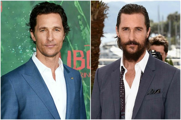 Come curare la barba lunga a punta tipo quella dell'attore Matthew McConaughey