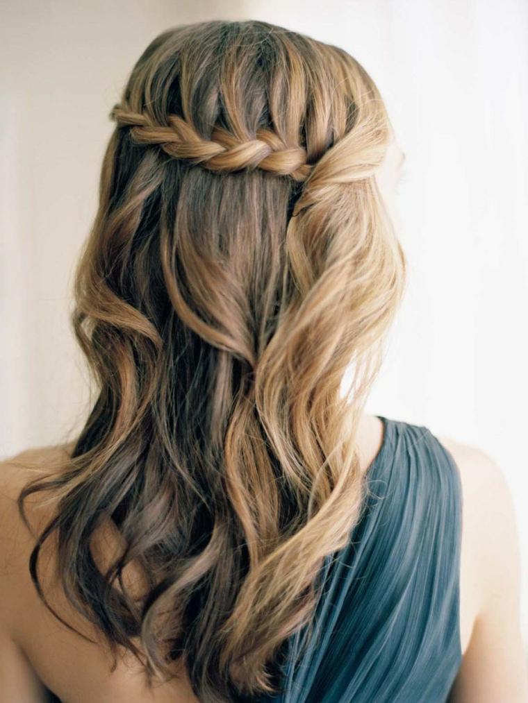 Come fare le trecce di stile cascata per dei capelli medi di colore biondo