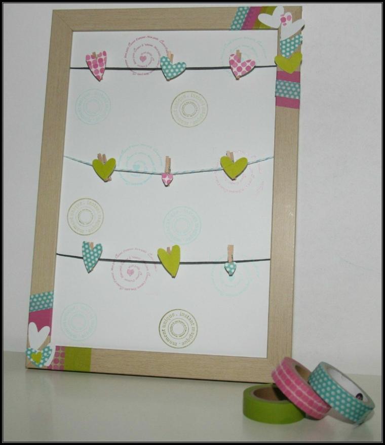 Cornici foto fai da te e un'idea con una decorata con nastro washi tape