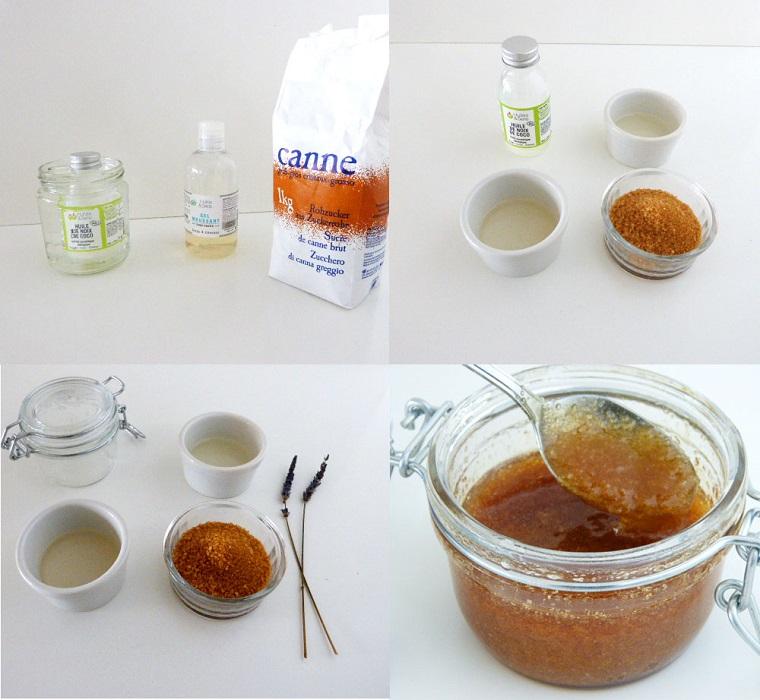 Gommage viso con uno scrub a base di zucchero di canna, olio di cocco e lavanda
