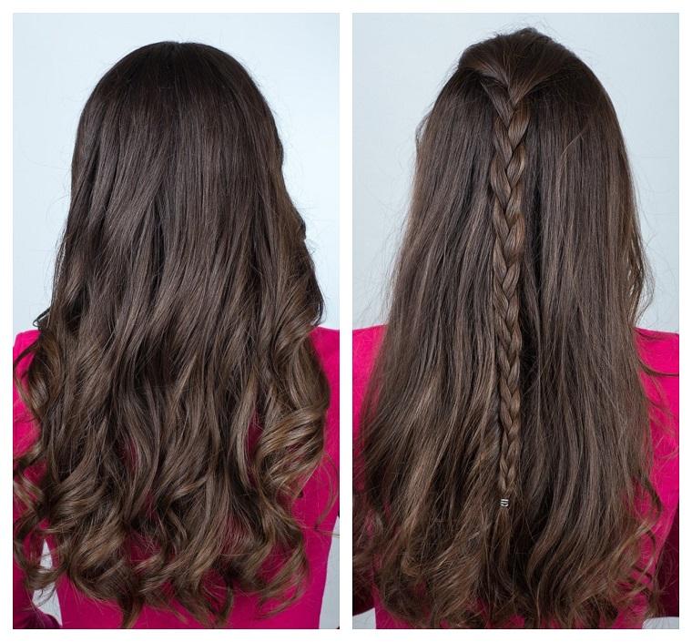 Tutorial trecce per dei capelli castani lunghi e mossi di una ragazza