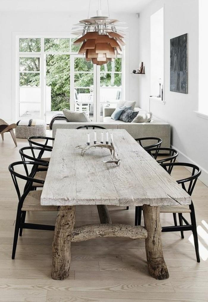 Mobili salotto moderni con accenti rustici, soggiorno con un divano angolare grigio