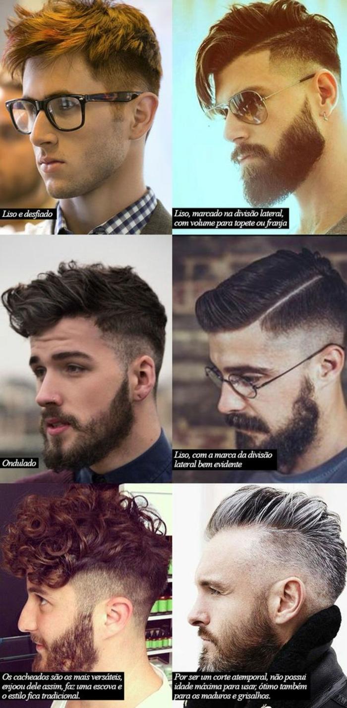 Ultimi tagli di capelli uomo con stili differenti e lunghezze corte e lunghe