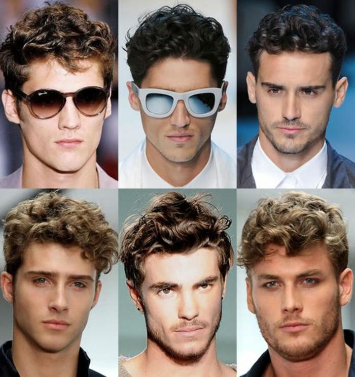 Acconciature capelli corti ricci per uomini, sei proposte di pettinature